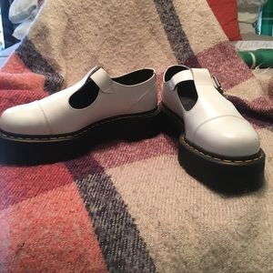 Dr. Martens Style Bethan White Shoes UK 8 Women's
